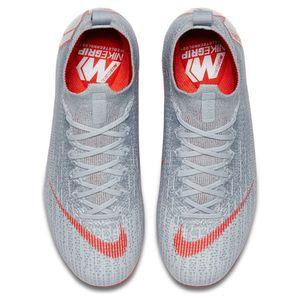 Nike Kinder Mercurial Superfly 6 Elite FG grau / rot / silber – Bild 5