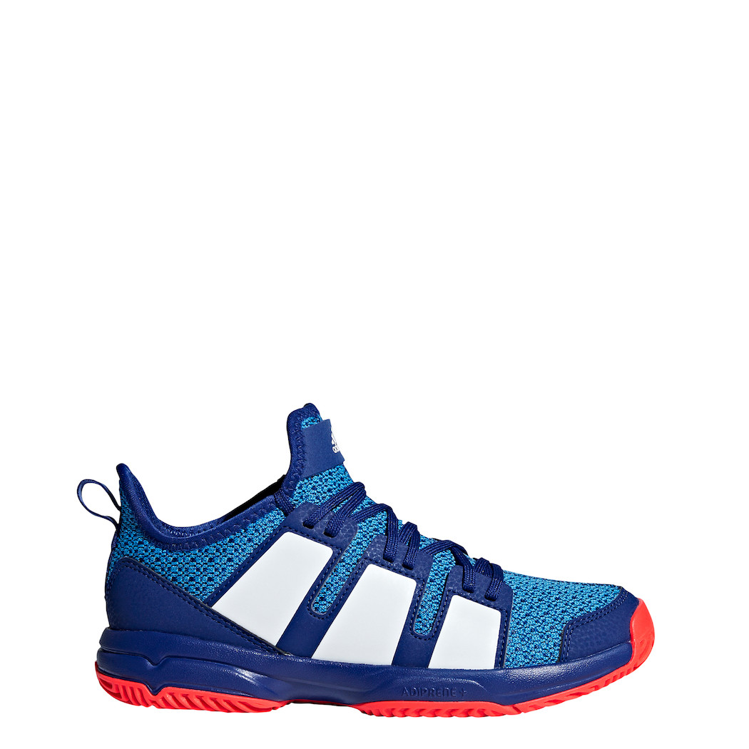 adidas Kinder Stabil X Handballschuhe Junior blau / weiß