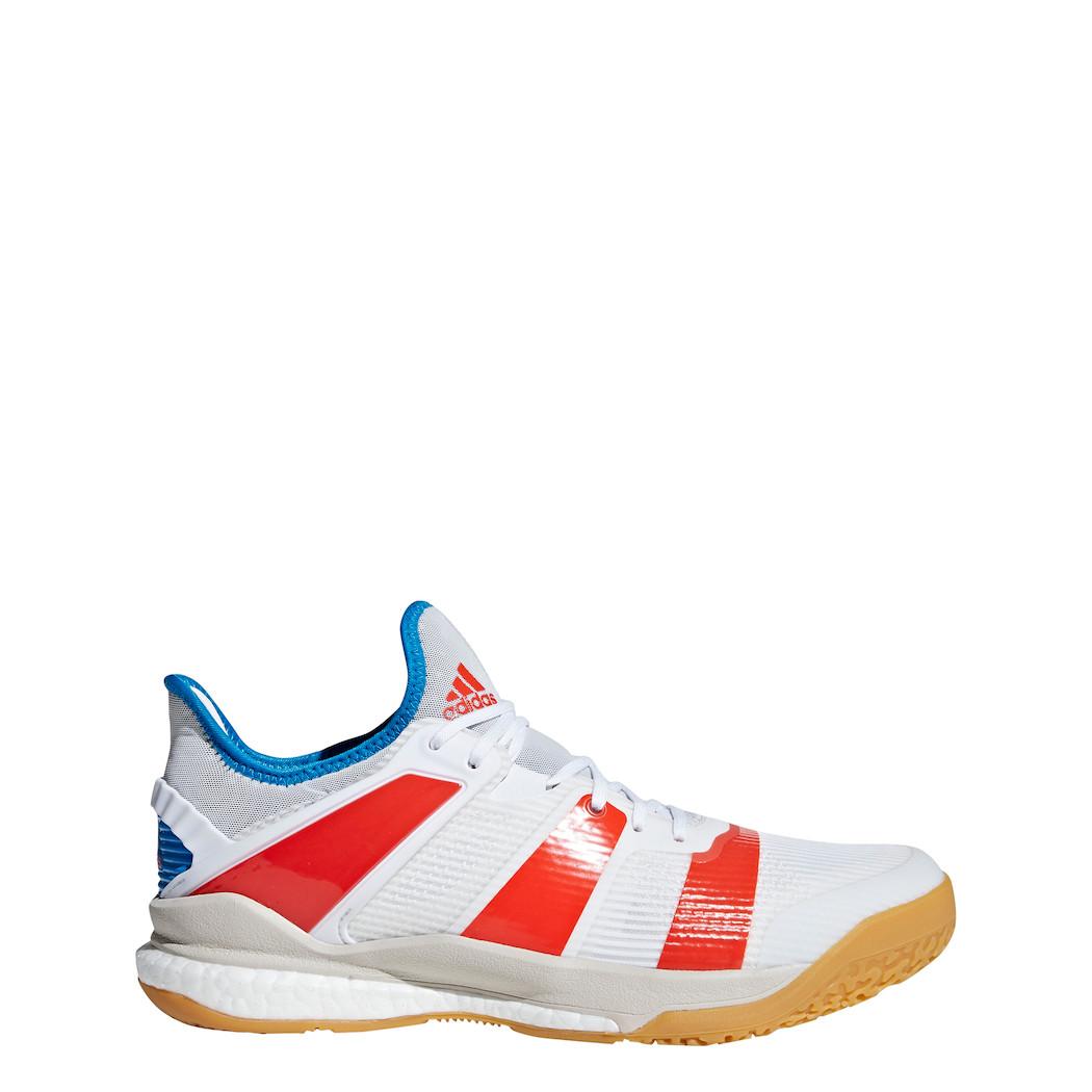 Handball Schuhe: Herren Adidas Stabil 12 BlauWeiß Handball