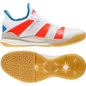 adidas Stabil X Handballschuhe Herren weiß / rot – Bild 2