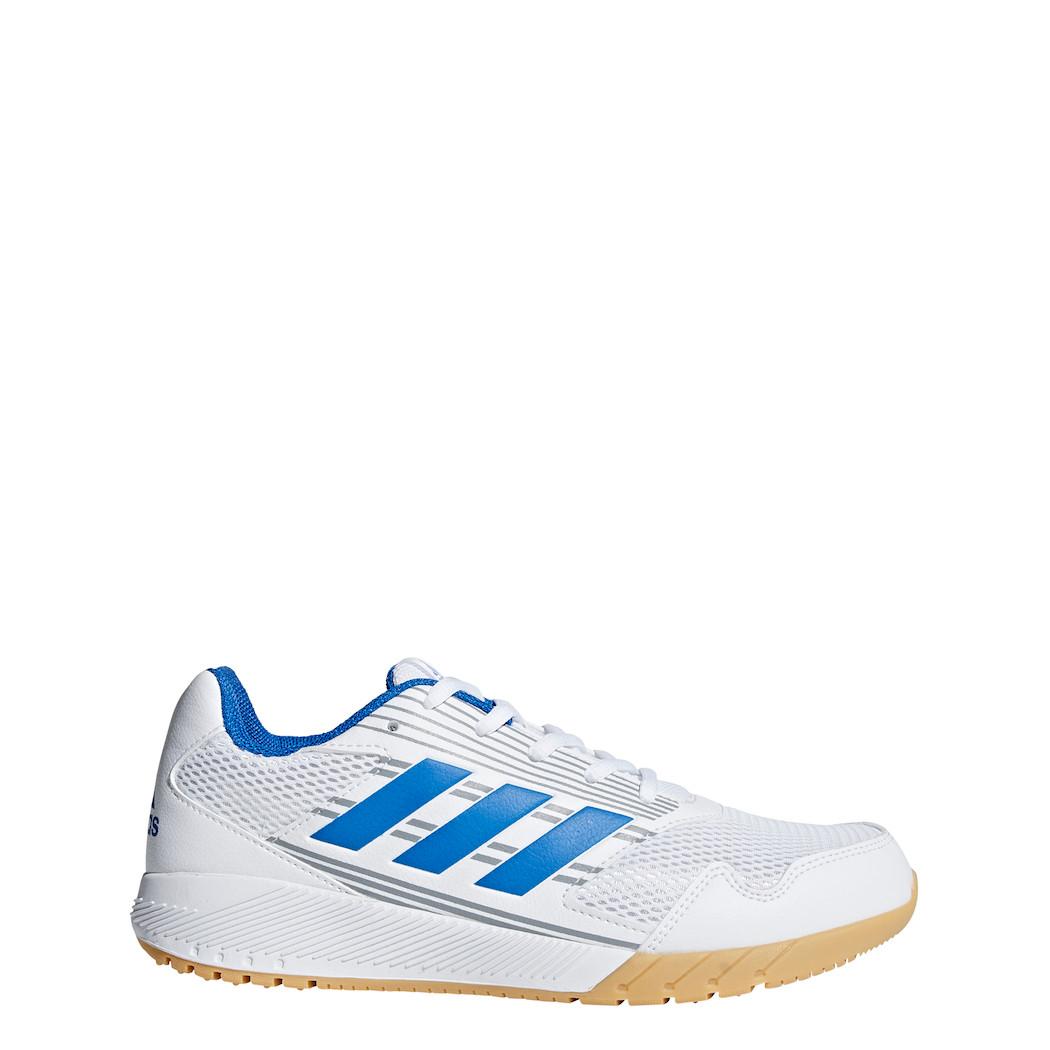 schön Design Stufen von neue Version adidas Kinder AltaRun K Hallenschuhe weiß / blau