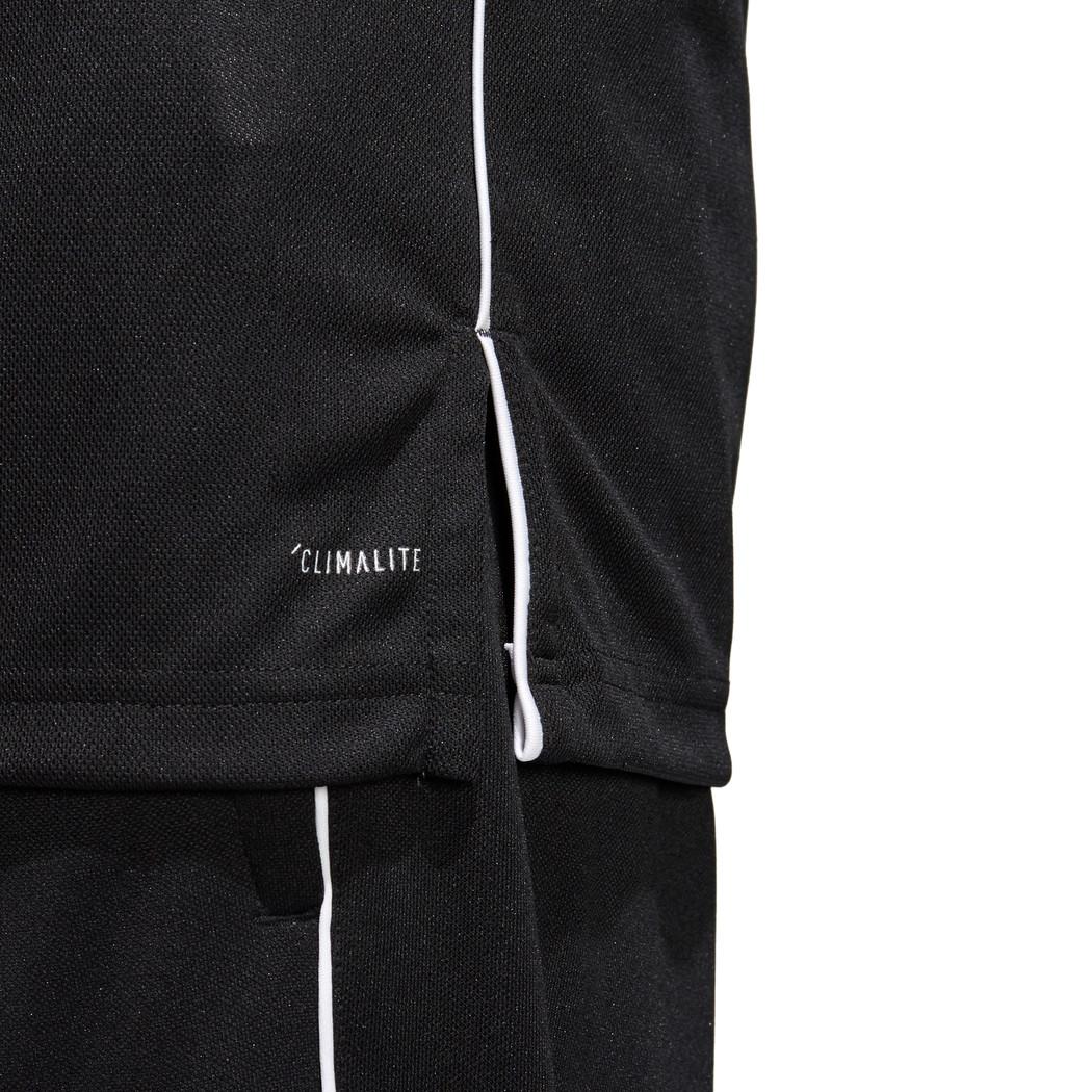 adidas Core 18 Herren Polo Shirt schwarz weiß