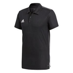 adidas Core 18 Herren Polo Shirt schwarz / weiß – Bild 1