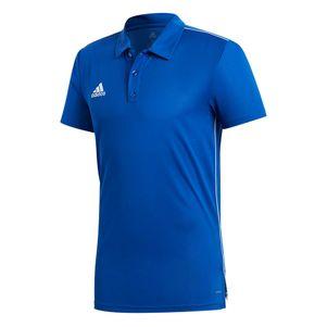 adidas Core 18 Herren Poloshirt blau – Bild 1