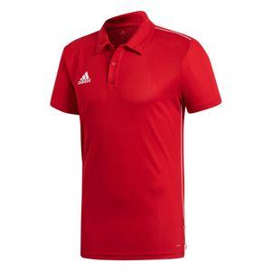 adidas Core 18 Herren Poloshirt rot / weiß – Bild 1