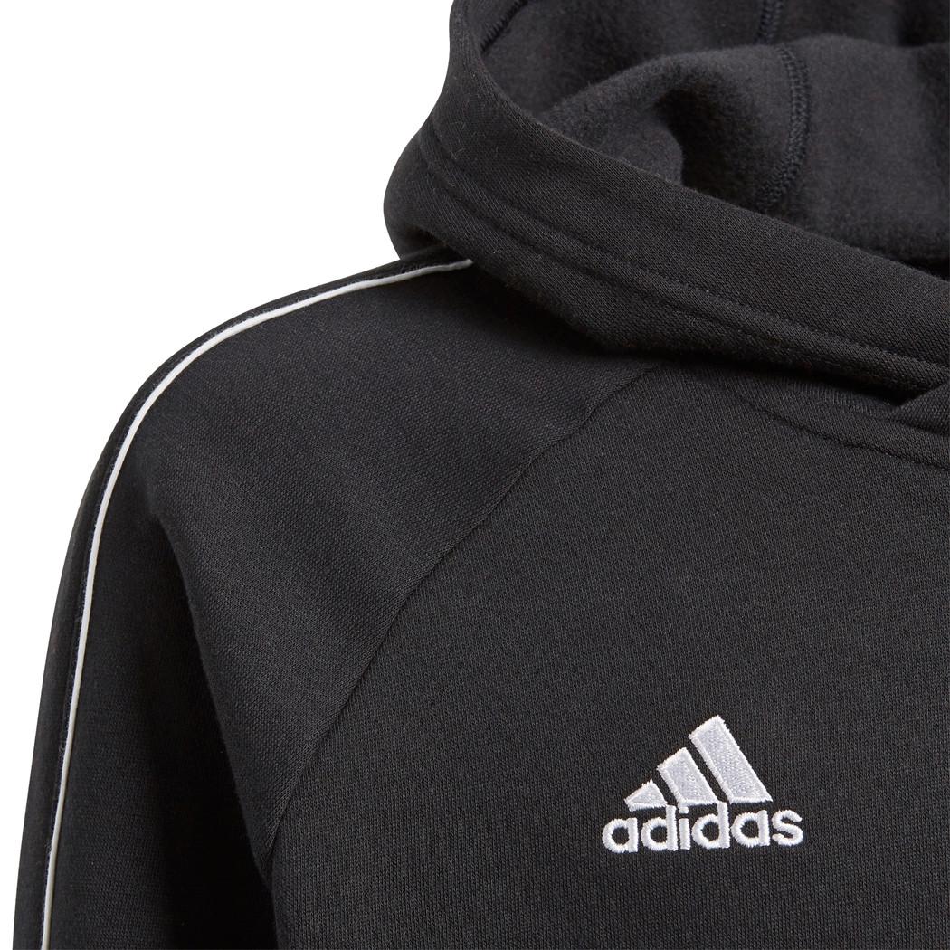 adidas Core 18 Kapuzenpullover schwarz