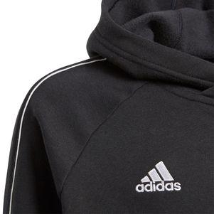 adidas Kinder Core 18 Hoodie Kapuzenpullover schwarz – Bild 2