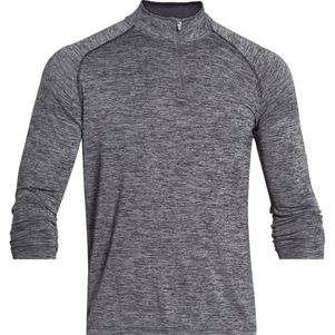 Under Armour Tech 1/4 Zip Trainingstop schwarz grau – Bild 8