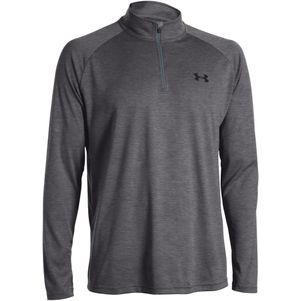 Under Armour Tech 1/4 Zip Trainingstop schwarz grau – Bild 14