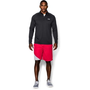Under Armour Tech 1/4 Zip Trainingstop schwarz grau – Bild 5