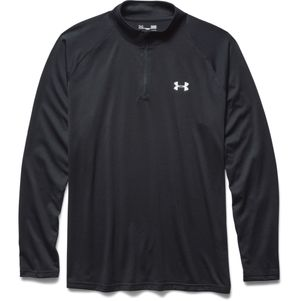 Under Armour Tech 1/4 Zip Trainingstop schwarz grau – Bild 4