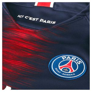 Nike Kinder Paris Saint Germain Stadium Home Trikot blau / rot 2018/2019 – Bild 3