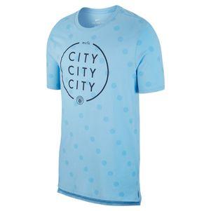 Nike Manchester City Squad Fan T-Shirt hellblau – Bild 1