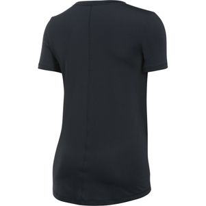 Under Armour Damen HeatGear® Shirt Fitness T-Shirt kurzärmlig schwarz – Bild 5
