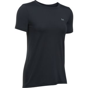 Under Armour Damen HeatGear® Shirt Fitness T-Shirt kurzärmlig schwarz – Bild 4