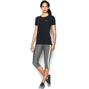 Under Armour Damen HeatGear® Shirt Fitness T-Shirt kurzärmlig schwarz – Bild 1