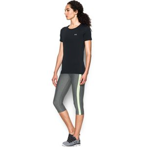 Under Armour Damen HeatGear® Shirt Fitness T-Shirt kurzärmlig schwarz – Bild 2