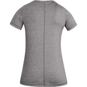 Under Armour Damen HeatGear® Shirt Fitness T-Shirt kurzärmlig grau – Bild 5