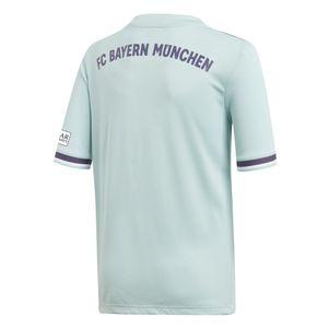 adidas Kinder FC Bayern München Auswärtstrikot 2018/2019 mintgrün – Bild 2