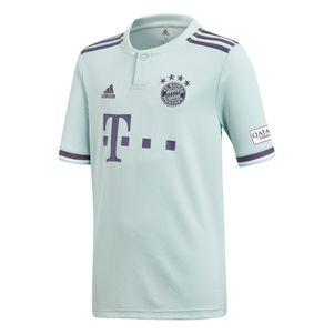adidas Kinder FC Bayern München Auswärtstrikot 2018/2019 mintgrün – Bild 1