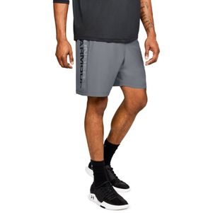 Under Armour Woven Graphic Shorts grau/schwarz – Bild 1