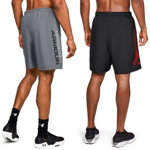 2er Pack Under Armour Woven Graphic Shorts schwarz und grau – Bild 2