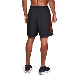 2er Pack Under Armour Woven Graphic Shorts schwarz und grau – Bild 5