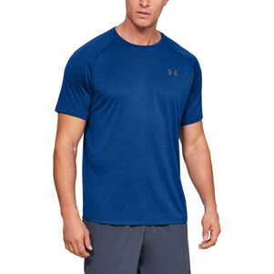 Under Armour Tech 2.0 T-Shirt Fitness Shirt blau – Bild 1