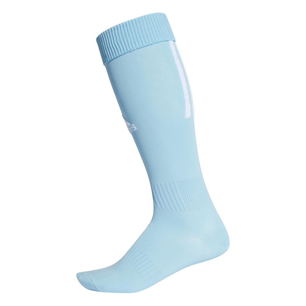 adidas Santos 18 3 Streifen Stutzenstrumpf hellblau