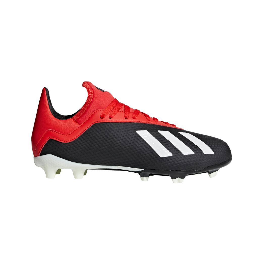 adidas Kinder X 18.3 FG Fußballschuhe schwarz weiß rot