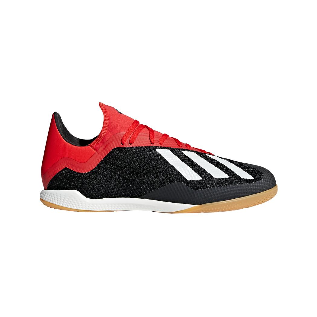 adidas X 18.3 Hallenfußballschuhe schwarz weiß rot
