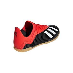adidas Kinder X 18.3 Hallenfußballschuhe schwarz / weiß / rot – Bild 4