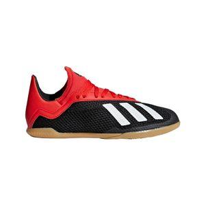 adidas Kinder X 18.3 Hallenfußballschuhe schwarz / weiß / rot – Bild 1