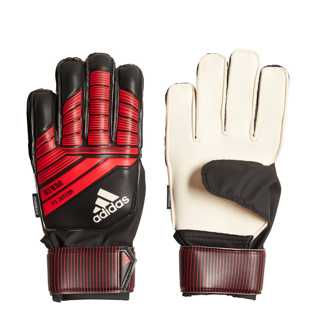 super quality low cost new arrive adidas Predator Fingersave Junior Torwarthandschuhe rot / schwarz