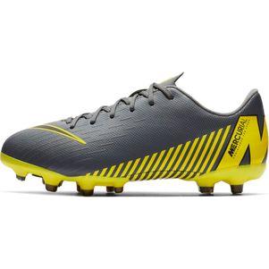 Nike Kinder Vapor 12 Academy MG  grau / gelb – Bild 4