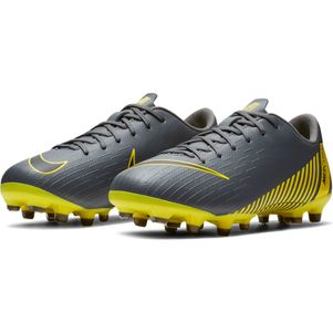 Nike Kinder Vapor 12 Academy MG  grau / gelb – Bild 5