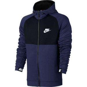 Nike Sportswear Advance 15 Hoody Kapuzenpullover dunkelblau / schwarz – Bild 1