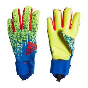 adidas Predator Pro Torwarthandschuhe gelb / blau / rot