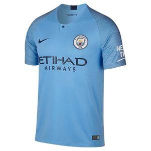 Nike Manchester City Stadium Home Heimtrikot 2018 / 2019 hellblau – Bild 1