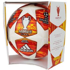 adidas Champions League Finale Madrid Spielball OMB Matchball rot / weiß – Bild 1