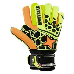 Derbystar Torwarthandschuhe APS Hexasoft Pro gelb / schwarz / orange