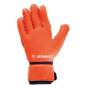 Uhlsport Next Level AbsolutGrip Reflex Torwarthandschuhe dunkelblau / orange – Bild 2