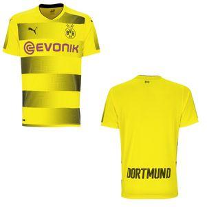 Puma BVB Borussia Dortmund Heimtrikot 2017/2018 gelb mit Flock – Bild 5