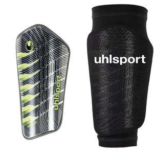 Uhlsport Pro Flex Schienbeinschoner schwarz / grün / silber – Bild 1