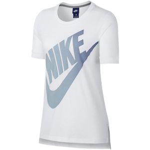 Nike Damen Sportswear Logo Futura T-Shirt weiß / blau