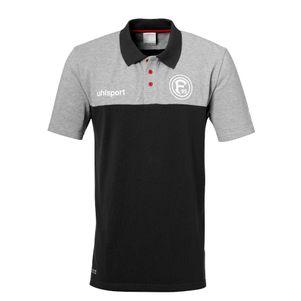 uhlsport Fortuna Düsseldorf F95 Freizeit Polo Shirt 19/20 grau / schwarz – Bild 1