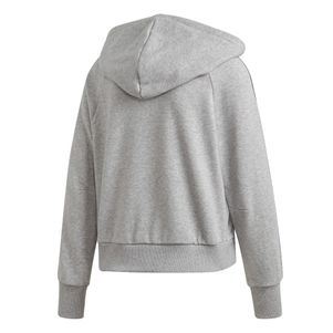 adidas Kapuzenjacke Damen Must Have 3-Streifen Full-Zip Hoodie grau – Bild 2