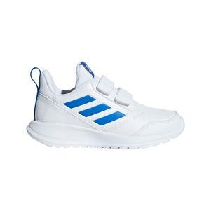 adidas Kinder AltaRun K Hallenschuhe mit Klettverschluss weiß / blau – Bild 1