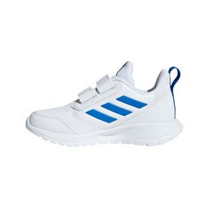 adidas Kinder AltaRun K Hallenschuhe mit Klettverschluss weiß / blau – Bild 2