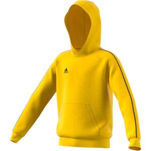 adidas Kinder Core 18 Hoodie Kapuzenpullover gelb – Bild 2
